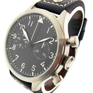 TICINO 44mm Vintage Hand Wind Pilot Chronograph Watch