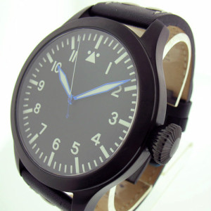 TICINO 47mm PVD Automatic Pilot Watch w/ Sapphire Crystal / SuperLuminova