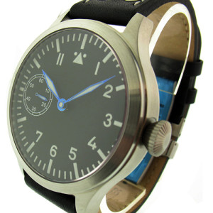 TICINO 44mm Vintage Hand Wind Pilot Watch w/ A 6497 Movement